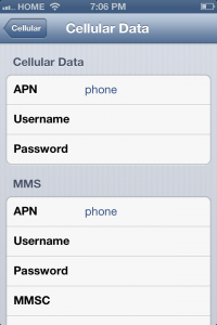 Step by step guide on how to get data and MMS working on iPhone 4 and iPhone 4S with Straight Talk on iOS 6